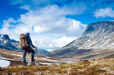 Smoothie Haven home of The Lifestyle meal prep service blog 5 Simple Ways To Lose Weight man standing with hiking gear